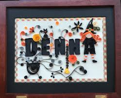 quilled halloween name inspired by a card by crea quilling