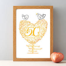 golden wedding anniversary gifts 50th golden wedding anniversary gift print by wetpaint