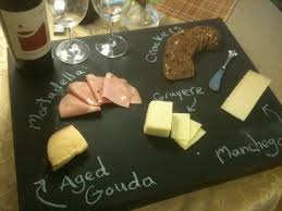 chalkboard cheese plate make a cheese platter at home