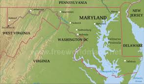 me a map of maryland physical map of maryland and potomac river map roundtripticket me
