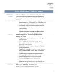 Senior Level Resume Samples by Senior Business Analyst Resume Resume For Your Job Application