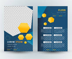 flyer template vector design with abstract geometric illustration