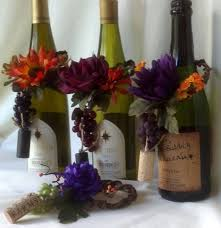 set of 4 wine bottle toppers centerpieces made in michigan
