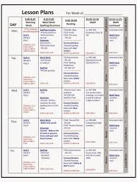 lesson planning idea weekly plan template free