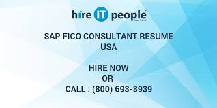 Sap Fico 2 Years Experience Resumes Sap Fico Consultant Resume Hire It People We Get It Done