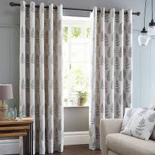 Curtains Kitchen Fern Grey Lined Eyelet Curtains Dunelm Kitchen Curtains
