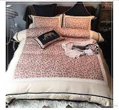 european style beauty and the beast leopard duvet cover set 100