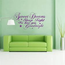 sweet dreams sleep tight we love you goodnight letters vinyl wall