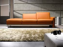 Orange Interior Living Room Interior Design With Reflex Sofa By Toine Van Den