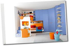 Modern Childrens Bedroom Furniture Bunk Bed Arrangement With - Modern childrens bedroom furniture