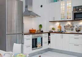 White Kitchen Appliances by Small White Kitchen With Silver Appliances Small White Kitchen