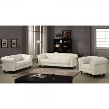 canapé cuir chesterfield canapé chesterfield blanc capitonné en simili cuir 3 places