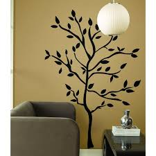 jungle tree removable wall art stickers kids nursery vinyl decals black tree wall mural design decoration for elegant living room or