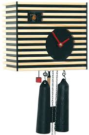 cuckoo clock 8 day movement modern art style 20cm by rombach