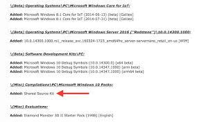 heaps of windows 10 internal builds private source code leak