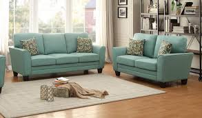 Teal Sofa Set by Homelegance 2pcs Adair Teal Polyester Sofa Set 8413tl Sl