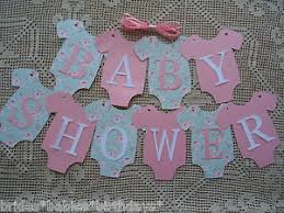 baby shower banner diy 10 bunting flags banners garland baby shower pink mint green diy