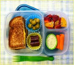 grilled cheese packed for lunch with easylunchboxes containers