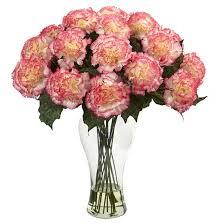 Flowers Glass Vase Pink Flower Ceramic Vase Target