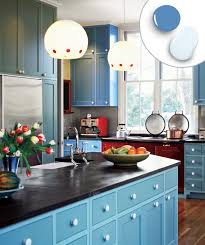 light blue kitchen cupboard doors 12 kitchen cabinet color ideas two tone combinations this
