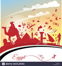 Cairo Flag Egypt Background With Flag And Symbol Stock Vector Art