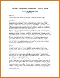 formal lab report template science experiment report template new 10 formal lab report