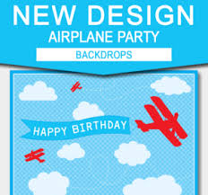 airplane printable birthday invitation complete party collection