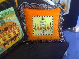 halloween pillow canvas halloween pillow the needle tree