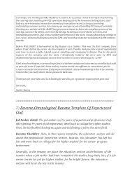 Reverse Chronological Resume Template Word Reverse Chronological Resume Templates U0026 Cover Letter