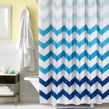 modern geometric wave shower curtain for bathroom blue extra long