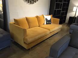 gus jane sofa gus modern margot sofa in velvet gold leaf at urbanloft com