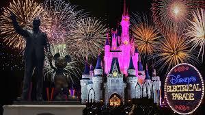 electric light parade disney world disney s electrical parade fireworks and princess castle light show
