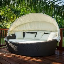 Outdoor Patio Daybed Bed Outdoor Chair With Canopy Wicker Daybed Outdoor