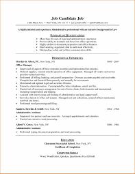 Resume Format Pdf Simple sample job resume examples sample resume123