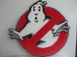 perler big ghostbusters logo by slimer530 lego pinterest