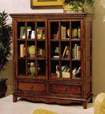 Mahogany Bookcase With Glass Doors Bookcase Antique Mahogany Bookcase Glass Doors White