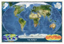 National Geographic Map National Geographic Maps World Satellite Wall Map U0026 Reviews Wayfair