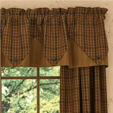 Cheap Primitive Curtains Country Point Valance Curtains Primitive Spice 72