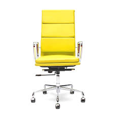 Modern Leather Office Chairs Yellow Leather Office Chair U2013 Top Modern Interior Design Trends