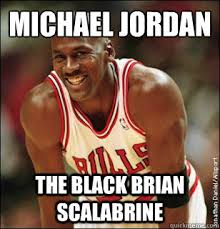 Brian Scalabrine Meme - michael jordan the black brian scalabrine michael jordan better