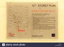 hotel floor plan hotel floor plan fire evacuation sign stock photo royalty free