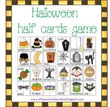 halloween card game esl efl preschool teachers october 2015