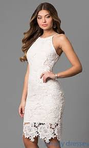 all white graduation dresses floral lace white graduation party dress