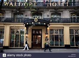 outside the famous waldorf hotel on aldwych in covent garden in