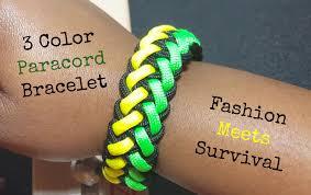 Colors Of Jamaican Flag 3 Color Paracord Bracelet Jamaican Colors Youtube