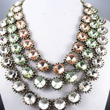 vintage glass crystal necklace images Shop j crew crystal necklace on wanelo jpg