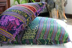 berry hand woven ikat pillows 30 inch floor pillows or 16 inch