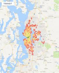 Seattle Area Code Map by Visualizing Commute Times U2013 Dev Curious