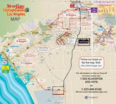 Tourist Map Of San Francisco by Hop On Hop Off Bus Hollywood Red Loop Only Starline Tours