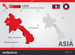 Laos World Map by Laos Flag Asia World Map Vector Stock Vector 238519435 Shutterstock